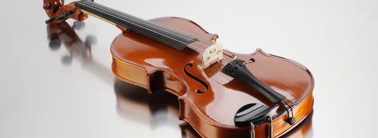 Elegant shot of a violin
